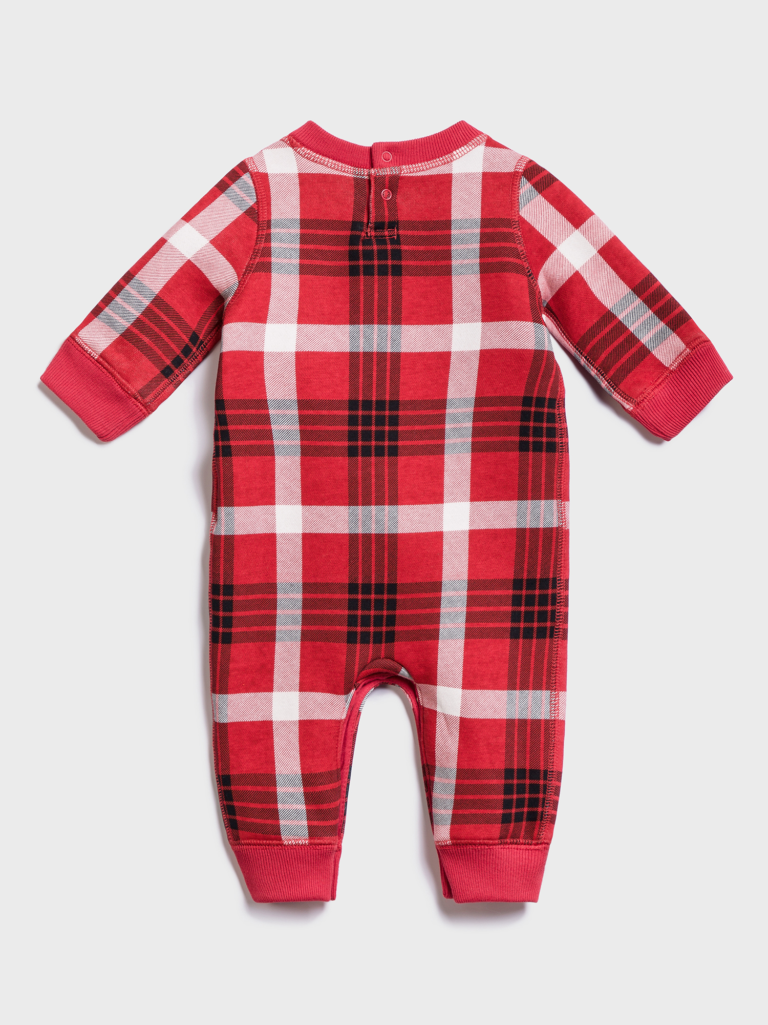 Baby overal GAP Logo gao plaid bodysuit (2)