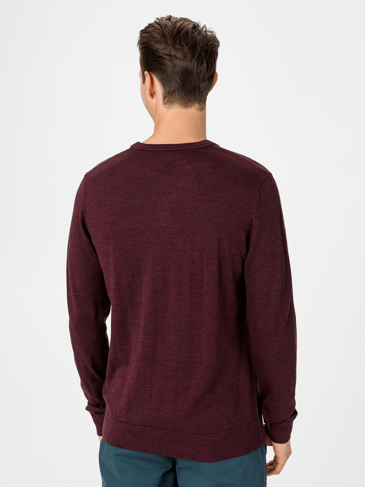 Sveter merino v-neck sweater (2)