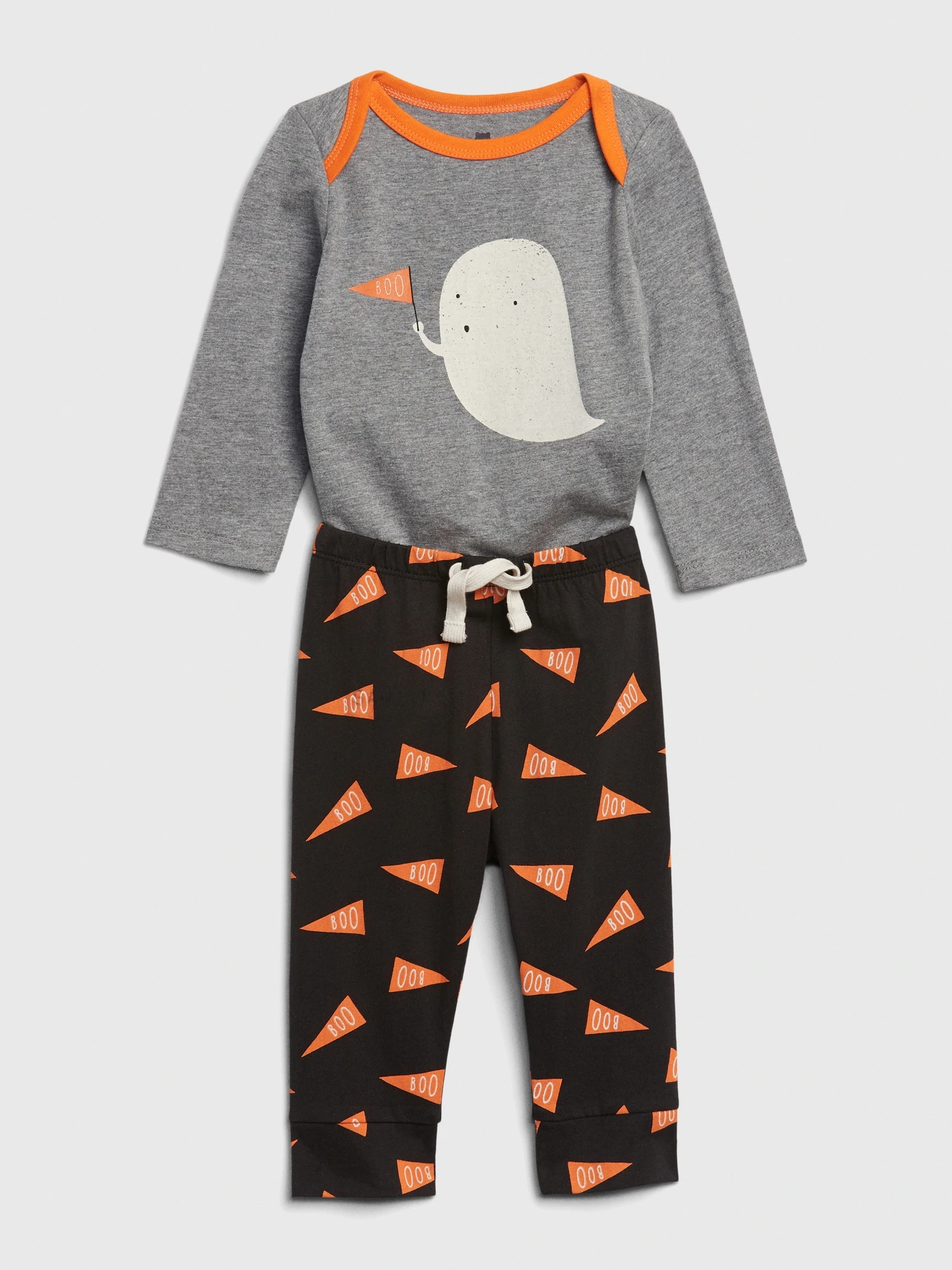 Baby body a tepláky mix and match long sleeve graphic outfit set (3)