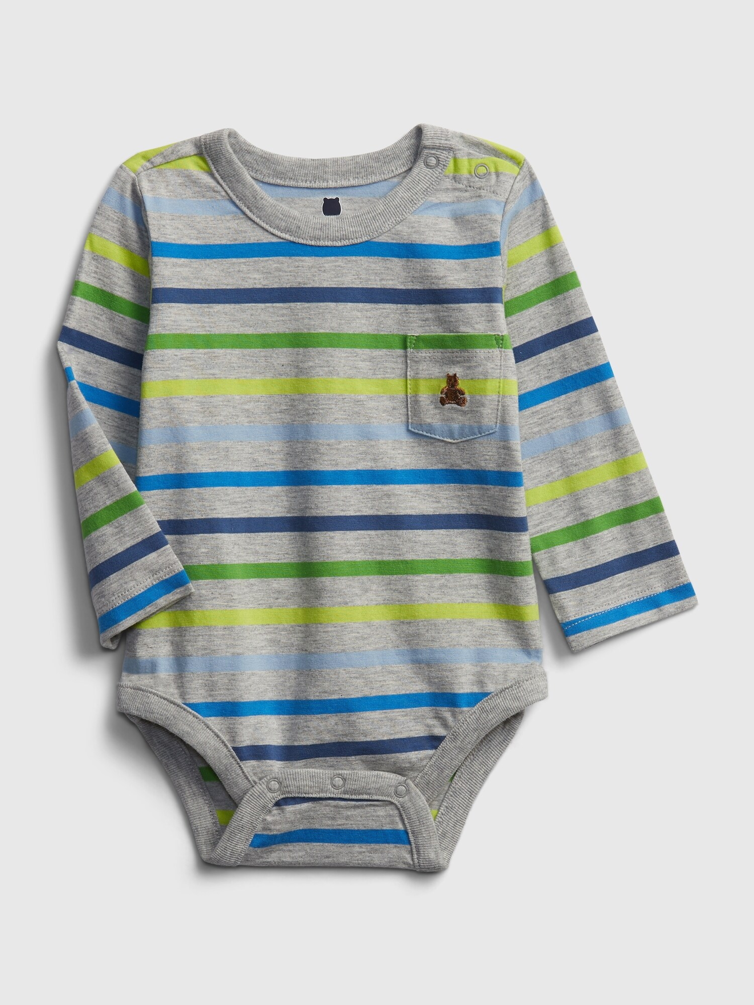 Baby body mix and match stripe bodysuit (1)
