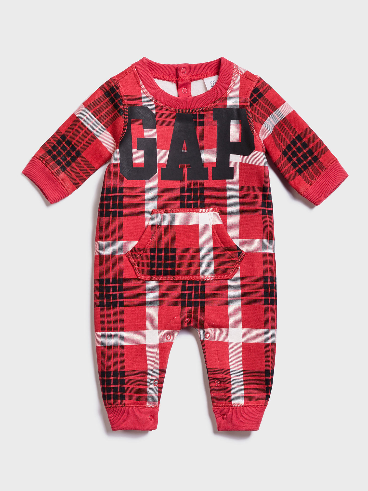 Baby overal GAP Logo gao plaid bodysuit (1)