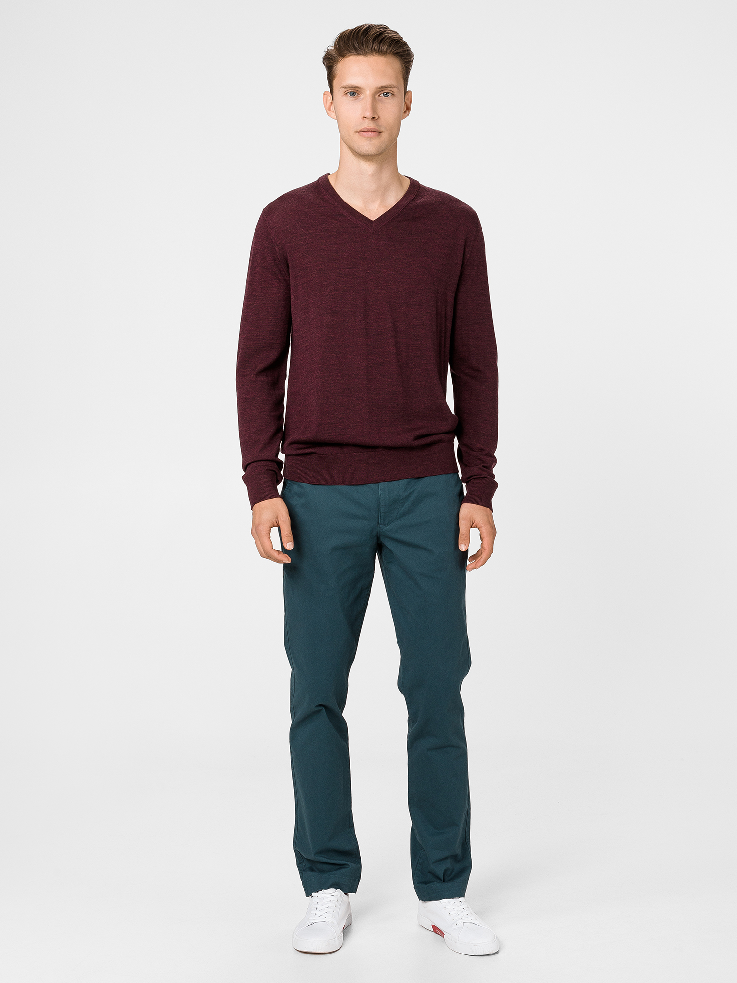 Sveter merino v-neck sweater (4)
