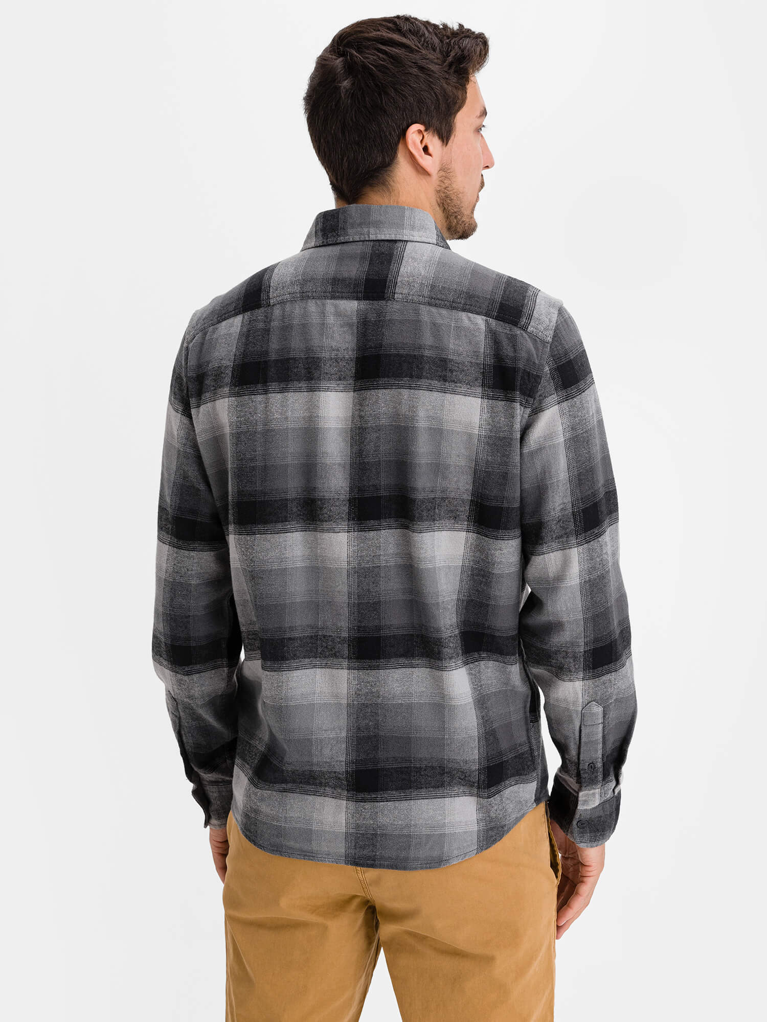 Košeľa flannel shirt in untucked fit (2)