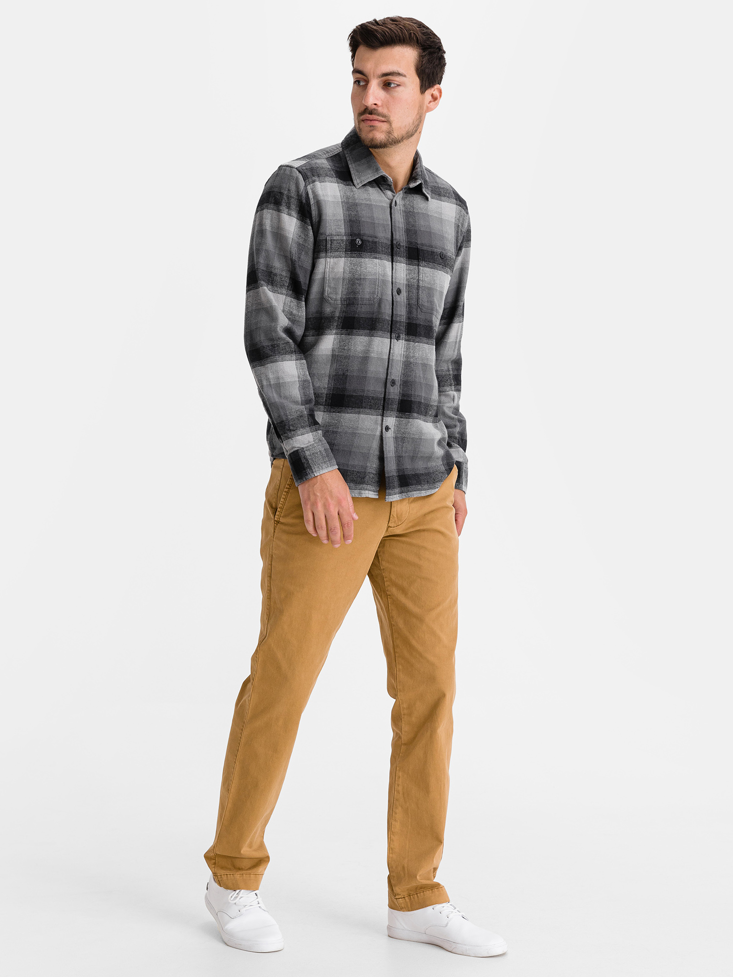 Košeľa flannel shirt in untucked fit (4)