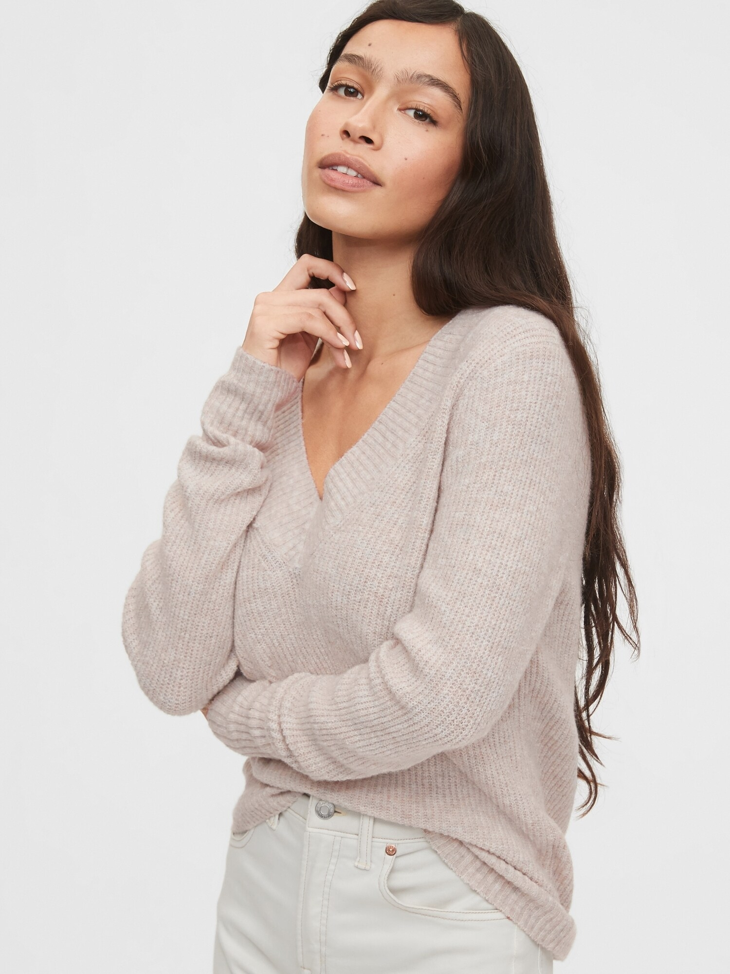 Sveter v-neck sweater (1)