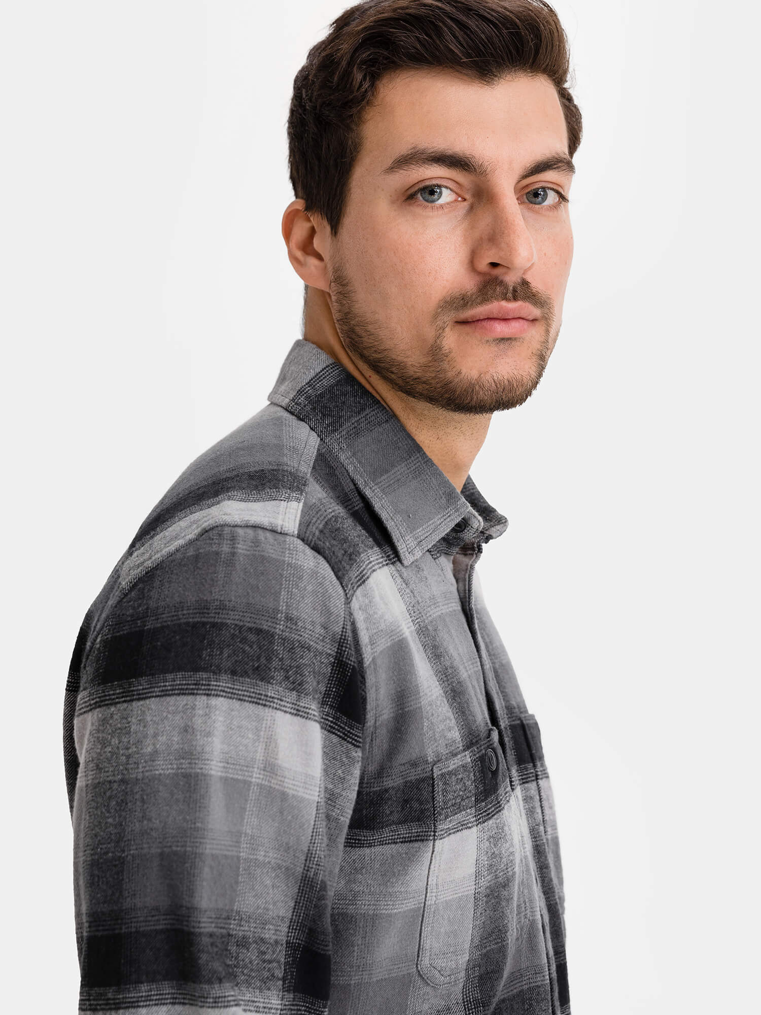 Košeľa flannel shirt in untucked fit (3)