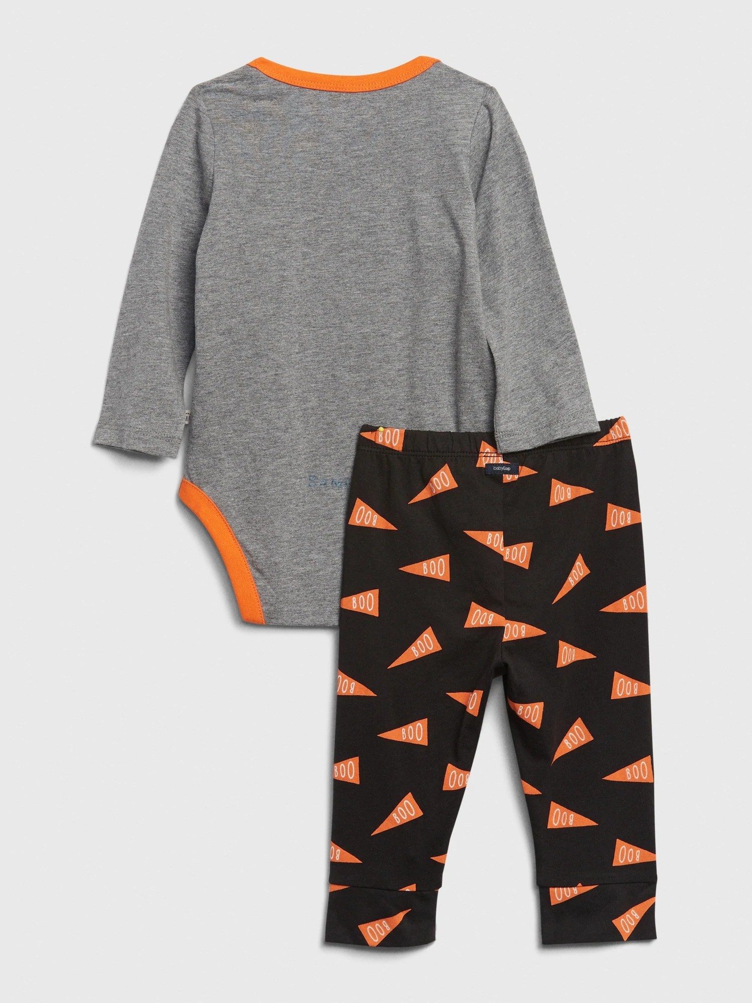 Baby body a tepláky mix and match long sleeve graphic outfit set (2)