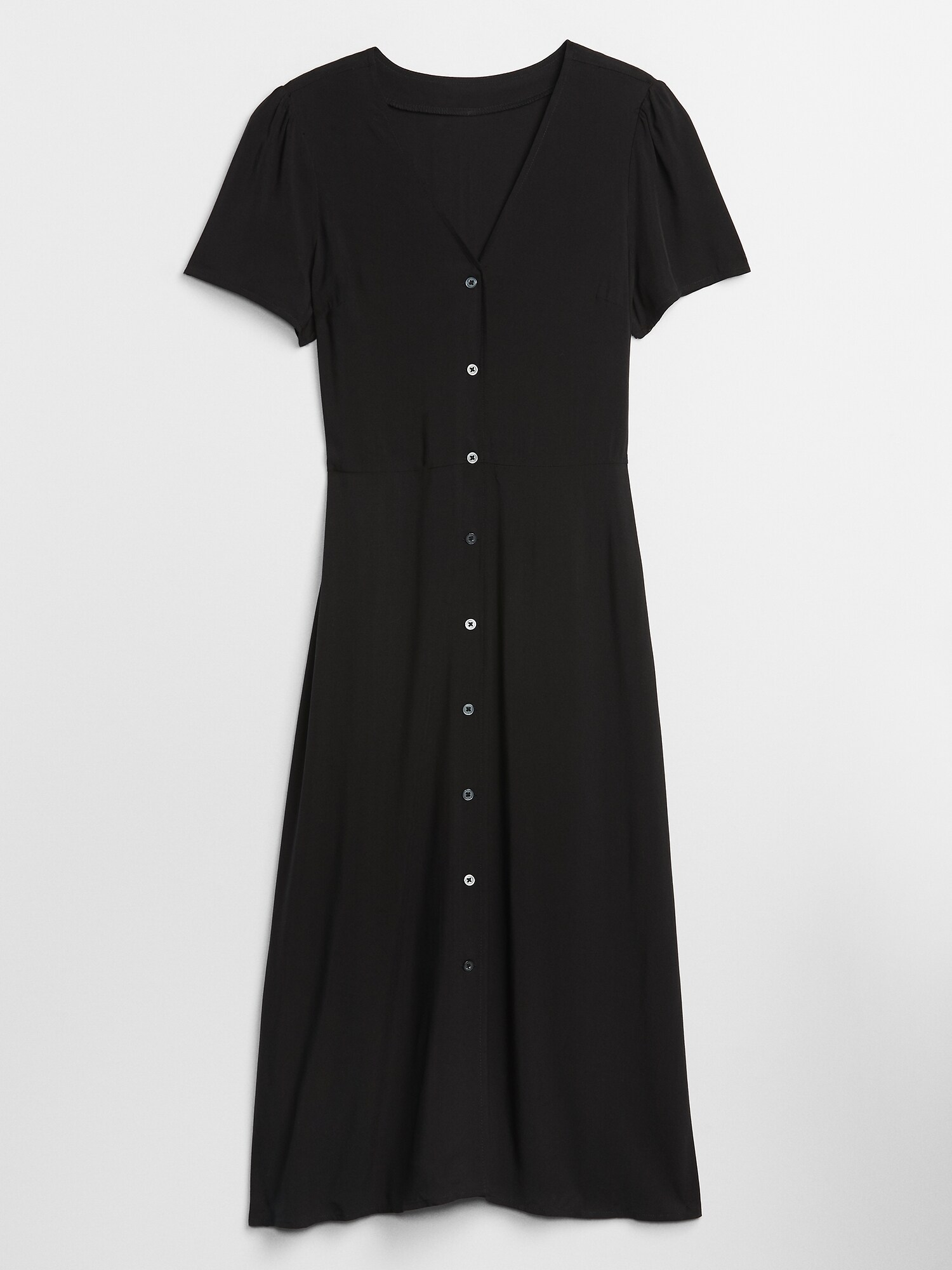 Šaty button-front midi dress (3)