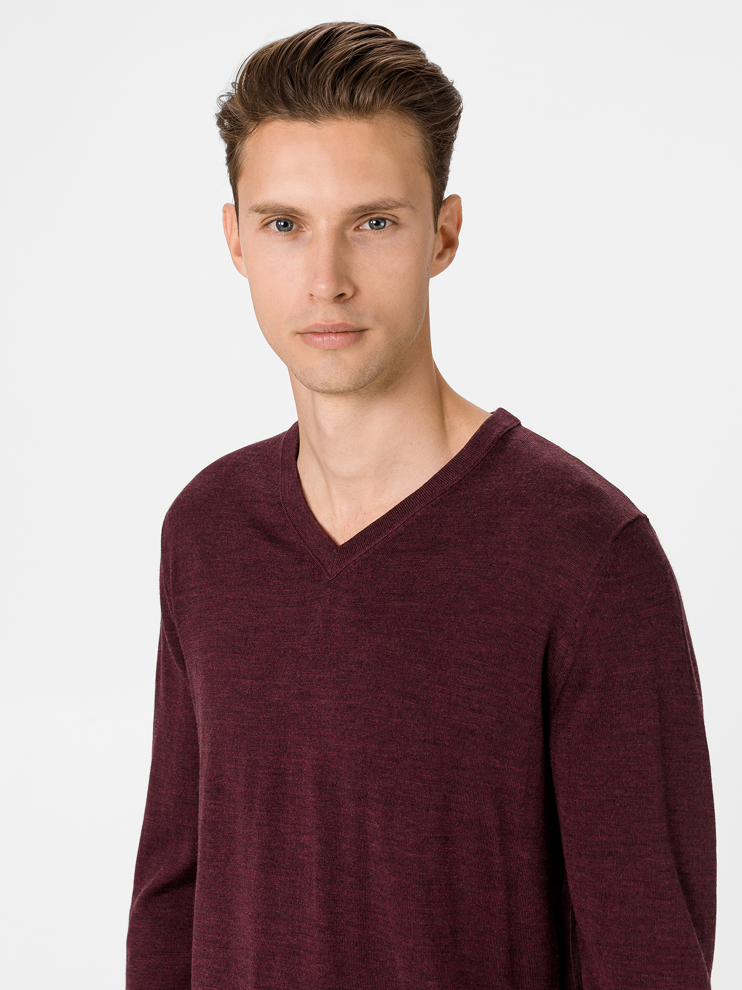Sveter merino v-neck sweater (3)