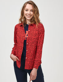 Košeľa button-front print shirt