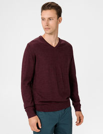Sveter merino v-neck sweater