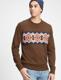 Sveter fair isle crewneck sweater