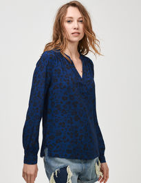 Top shirred popover top