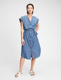 Šaty midi shirtdress