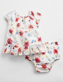 Baby body floral ruffle set