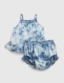 Baby set tie-dye denim outfit set