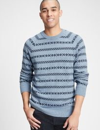 Sveter stripe crewneck sweater