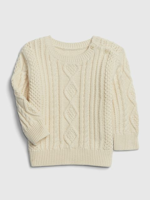 Baby sveter cable knit sweater