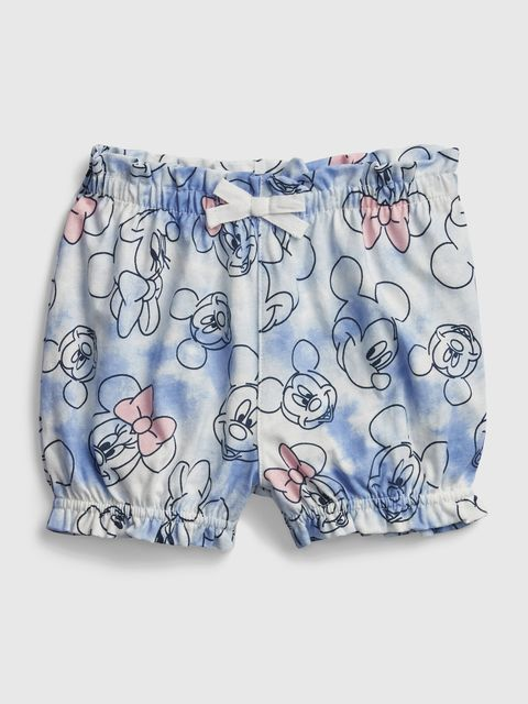 Baby kraťasy Disney Mickey and Minnie Mouse organic cotton mix and match bubble shorts