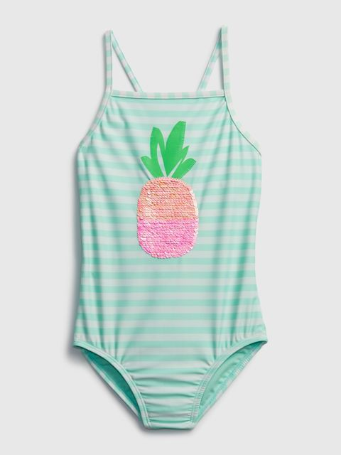 Detské plavky recycled flippy sequin pineapple swim one-piece